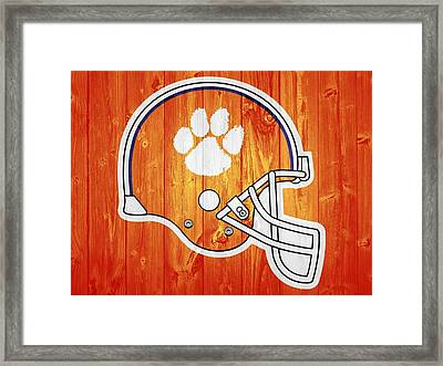 Clemson Barn Door Framed Print by Dan Sproul