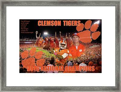 Clemson National Champs Framed Print