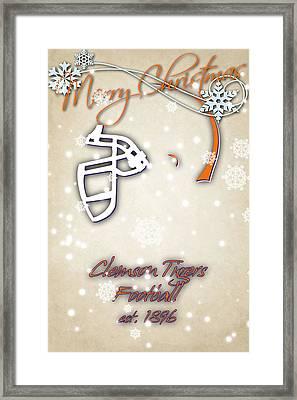 Clemson Tigers Christmas Card 2 Framed Print