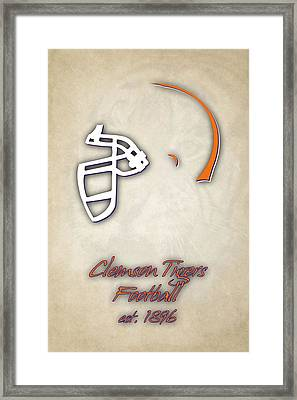 Clemson Tigers Helmet 2 Framed Print by Joe Hamilton