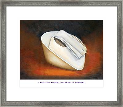 Framed Print featuring the painting Clemson University School Of Nursing by Marlyn Boyd
