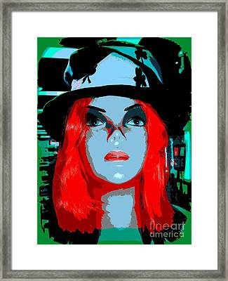 Cleo In Clovers Framed Print