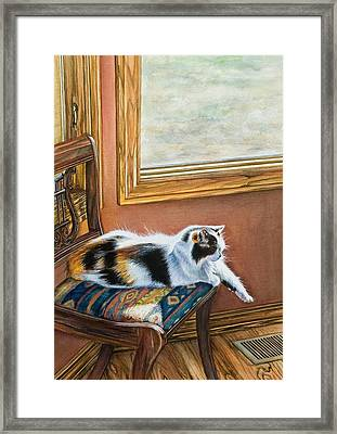 Cleo In The Sun Framed Print by Laurie Tietjen
