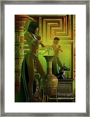 Cleo Reflections Framed Print by Shadowlea Is