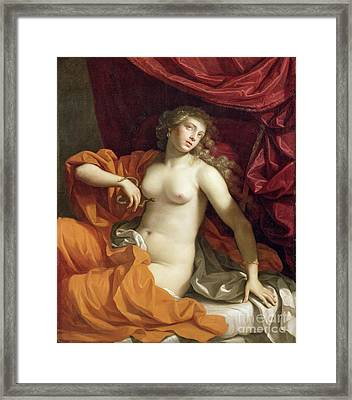 Cleopatra Framed Print by Benedetto the Younger Gennari