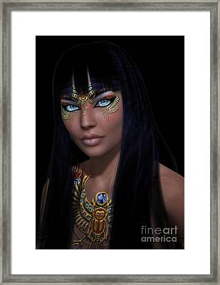 Cleopatra   Col Framed Print by Shadowlea Is