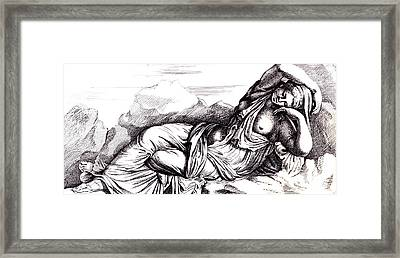 Cleopatra Taken To Rome In Triumph By Augustus Framed Print by Francois Perrier