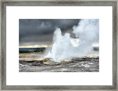 Clepsydra Geyser West Yellowstone National Park Usa Wy Framed Print by Christine Till