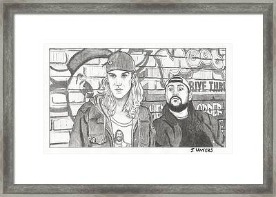Clerks 2 Jay And Silent Bob Framed Print by Jeremy Waters