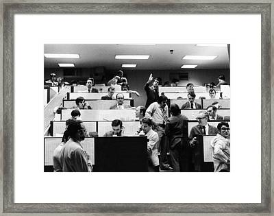 Clerks At The American Stock Exchange Framed Print