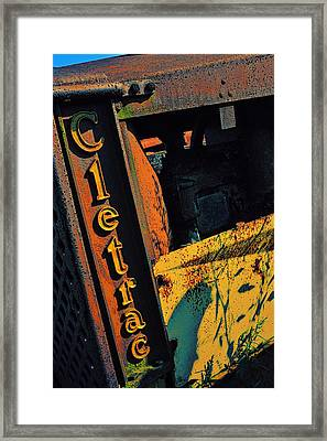 Cletrac Crawler Tractor Framed Print