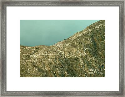 Cleveland 3d Landscape View South-north Natural Color Framed Print by Frank Ramspott