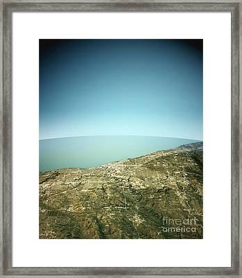 Cleveland 3d View South-north Natural Color Framed Print by Frank Ramspott