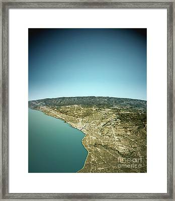 Cleveland 3d View West-east Natural Color Framed Print by Frank Ramspott
