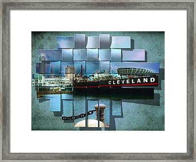 Cleveland A Different Look Framed Print by Kenneth Krolikowski