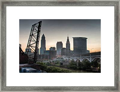 Cleveland Awakens Framed Print by At Lands End Photography
