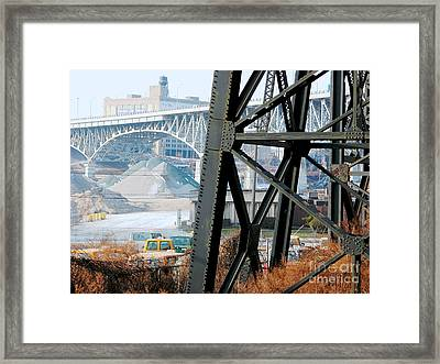 Cleveland Bridge Series 4 Framed Print by Donna Stewart