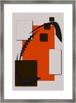 Cleveland Browns Football Art Framed Print