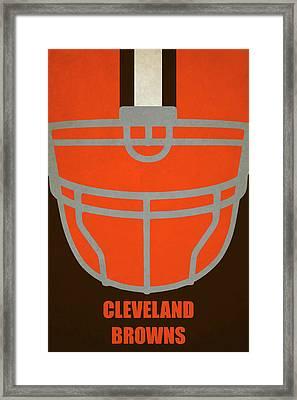 Cleveland Browns Helmet Art Framed Print