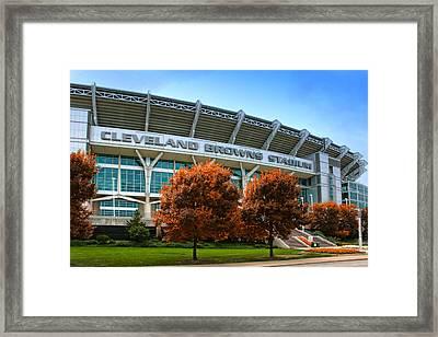 Cleveland Browns Stadium Framed Print by Kenneth Krolikowski