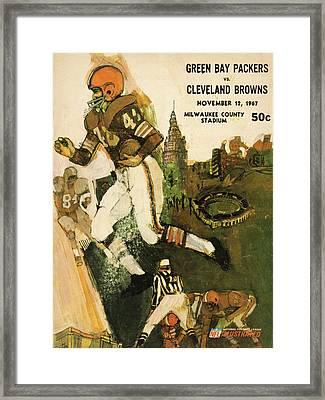 Cleveland Browns Vintage Program 2 Framed Print