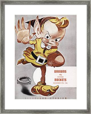 Cleveland Browns Vintage Program Framed Print