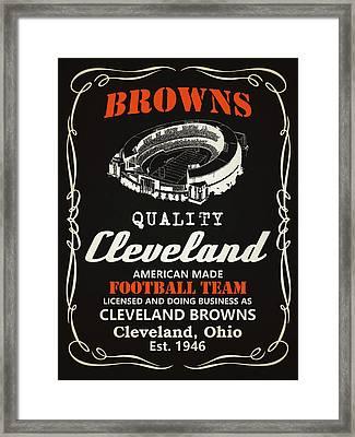Cleveland Browns Whiskey Framed Print by Joe Hamilton