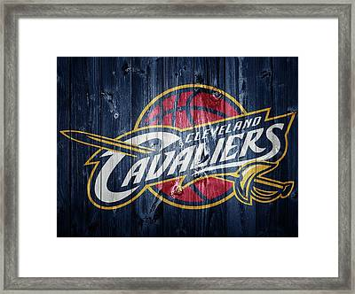 Cleveland Cavaliers Barn Door Framed Print by Dan Sproul