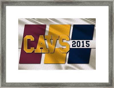 Cleveland Cavaliers Flag Framed Print by Joe Hamilton