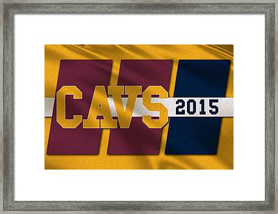 Cleveland Cavaliers Flag2 Framed Print by Joe Hamilton
