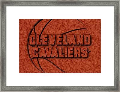 Cleveland Cavaliers Leather Art Framed Print by Joe Hamilton