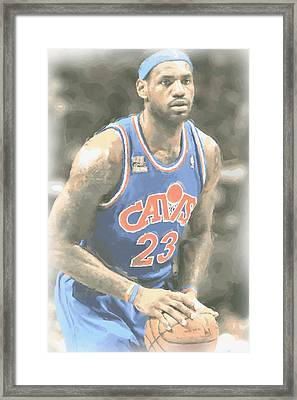Cleveland Cavaliers Lebron James 1 Framed Print by Joe Hamilton