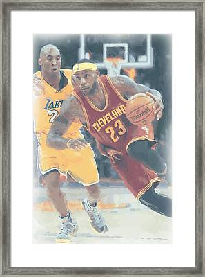 Cleveland Cavaliers Lebron James 3 Framed Print by Joe Hamilton