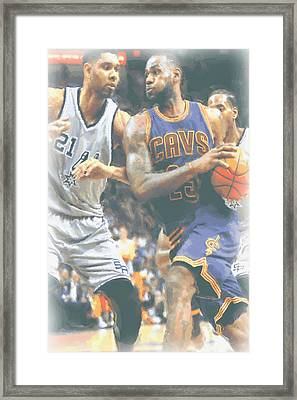 Cleveland Cavaliers Lebron James 4 Framed Print by Joe Hamilton