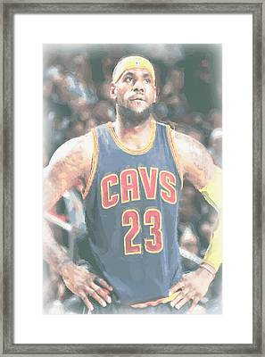 Cleveland Cavaliers Lebron James 5 Framed Print by Joe Hamilton