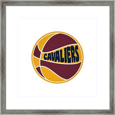 Cleveland Cavaliers Retro Shirt Framed Print by Joe Hamilton