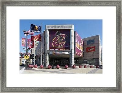 Cleveland Cavaliers The Q Framed Print
