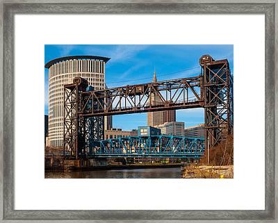 Cleveland City Of Bridges Framed Print