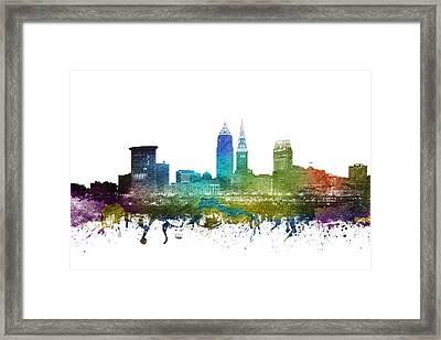 Cleveland Cityscape 01 Framed Print by Aged Pixel
