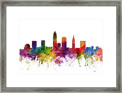 Cleveland Cityscape 06 Framed Print by Aged Pixel