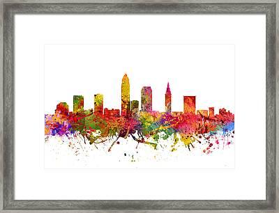 Cleveland Cityscape 08 Framed Print
