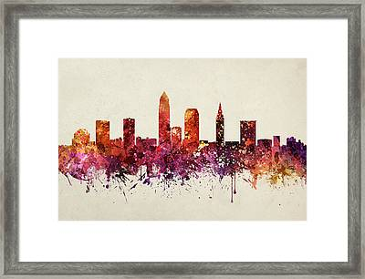 Cleveland Cityscape 09 Framed Print