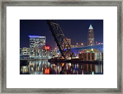 Cleveland Flats East Bank Framed Print by Frozen in Time Fine Art Photography