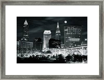 Cleveland Iconic Night Lights Framed Print