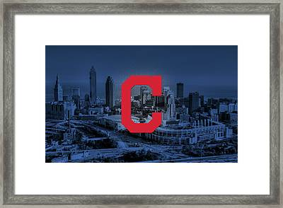 Cleveland Indians City Framed Print by Nicholas Legault