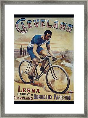 Cleveland Lesna Cleveland Gagnant Bordeaux Paris 1901 Vintage Cycle Poster Framed Print by R Muirhead Art
