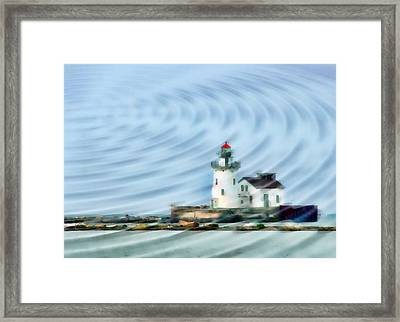Cleveland Lighthouse II Framed Print by Kenneth Krolikowski