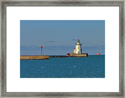 Cleveland Lighthouse Framed Print