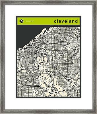 Cleveland Street Map Framed Print