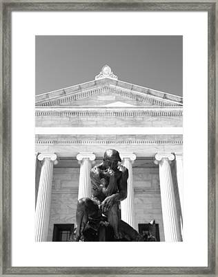 Cleveland Museum Of Art Entrance Framed Print by Dan Sproul